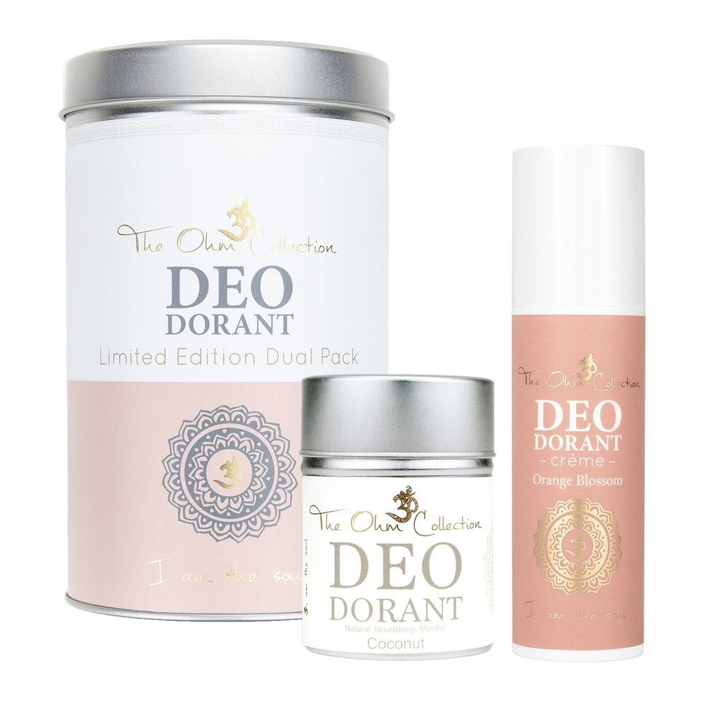the ohm collection deodorants banner