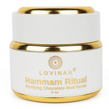LOVINAH - HAMMAM RITUAL - Purifying Body and Face Scrub with Grape Extract, RAW Cocoa and Tourmaline